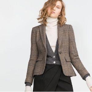 Zara Wool Tweed Riding Coat/Blazer